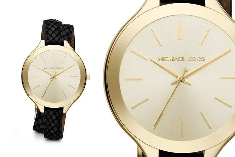 Ladies Michael Kors MK2315 Runway Champagne Dial Watch