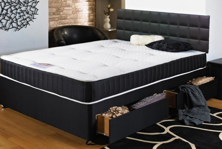 Parkside Divan Bed w/ Mattress & Optional Drawers - 5 Sizes!