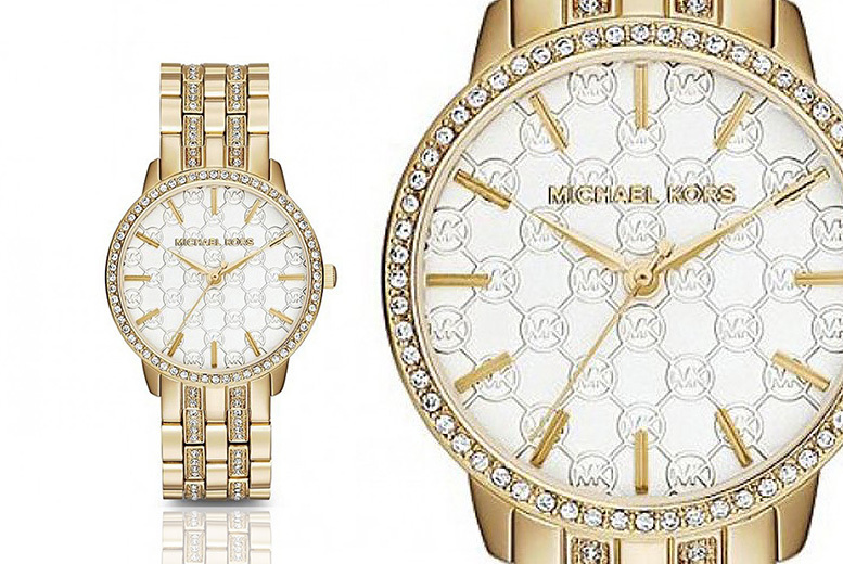Michael Kors MK3214 Gold-Tone Glitz Ladies' Watch