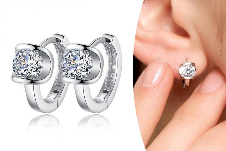 Darci Mini Crystal Hoop Earrings