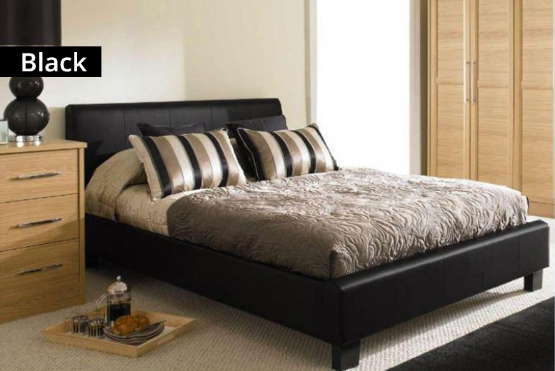 Roma Faux Leather Bed Frame - 2 Sizes & 3 Colours!
