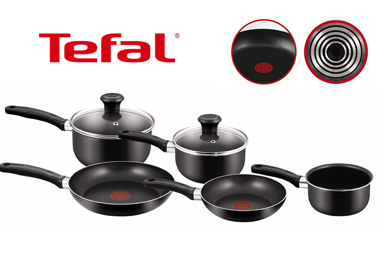 5pc Tefal Non-Stick Saucepan Set