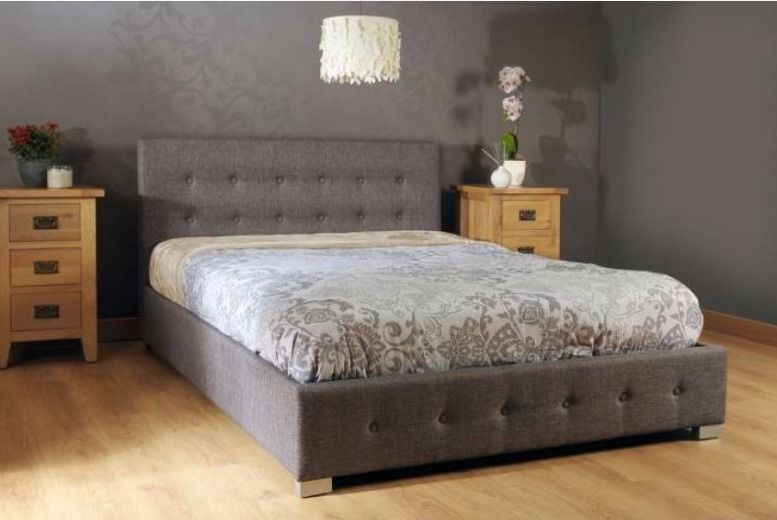 Contemporary Fabric Ottoman Storage Bed - 3 Colours & 3 Sizes!