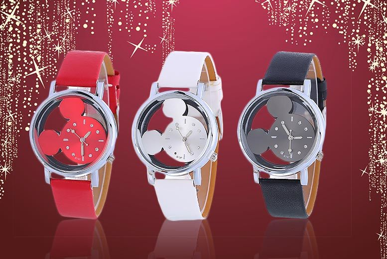 Disney-inspired Mouse Watch – 3 Colours!