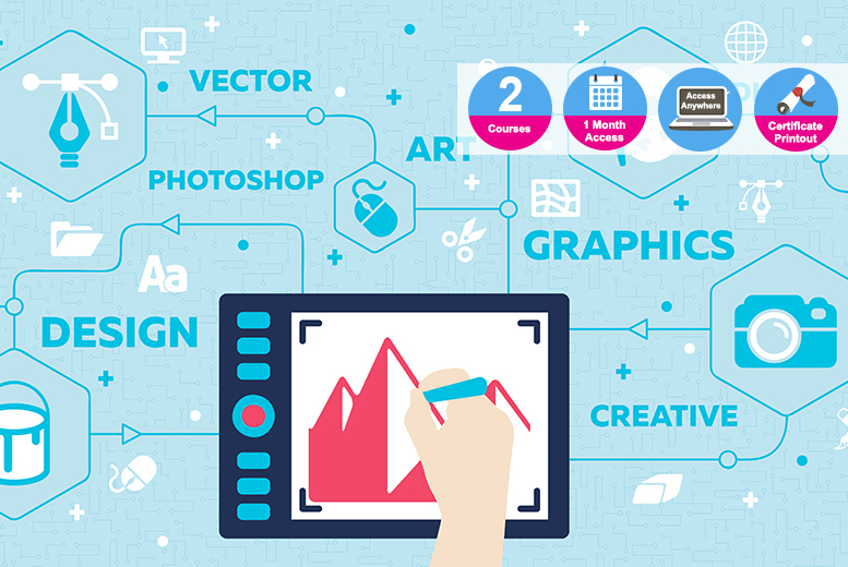 Accredited Photoshop & Graphic Design Bundle - 2 Courses!