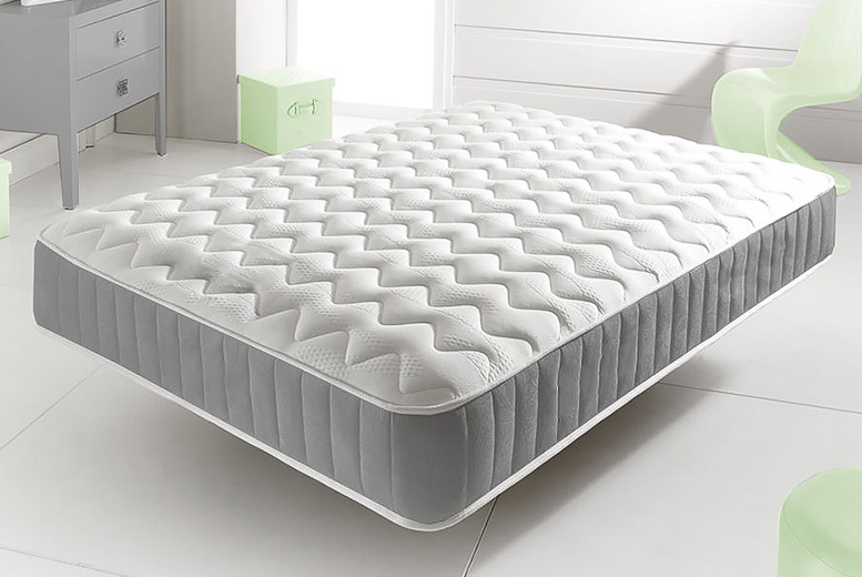 Cooling Memory Foam Topped Coil Spring Mattress - 6 Sizes!