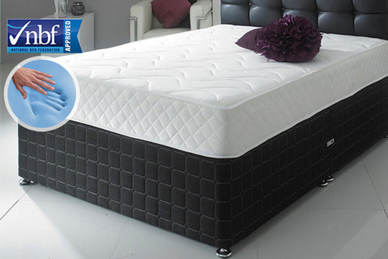 Cool Blue Memory Foam Bonnell Spring Mattress