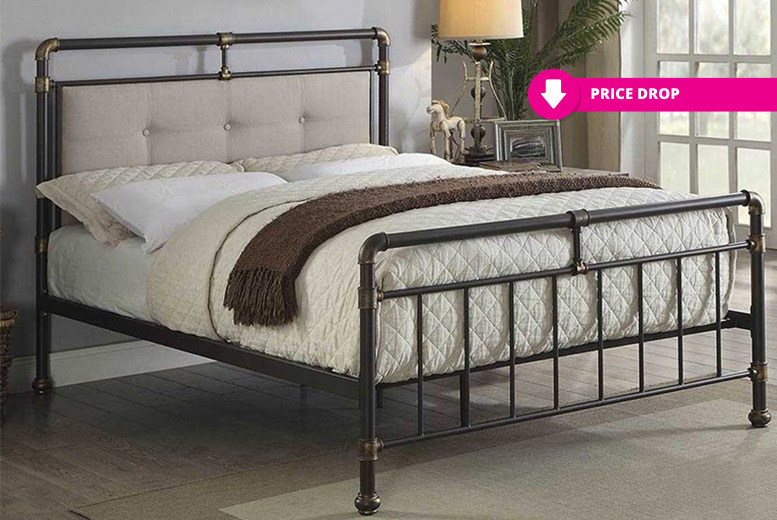 Oxford Antique-Style Metal Bed Frame - 2 Sizes!