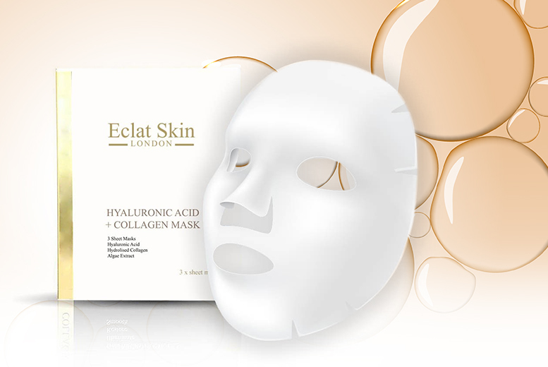 Hyaluronic Acid & Collagen Sheet Masks - 3 or 6!