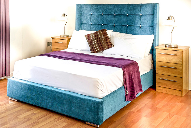 Crushed Velvet Maisie Wingback Bed - 5 Sizes & 9 Colours!