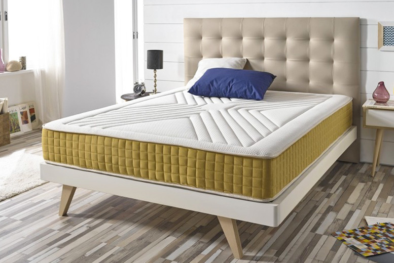 Luxury Memory Foam Gold-Threaded Bio-Natural Mattress