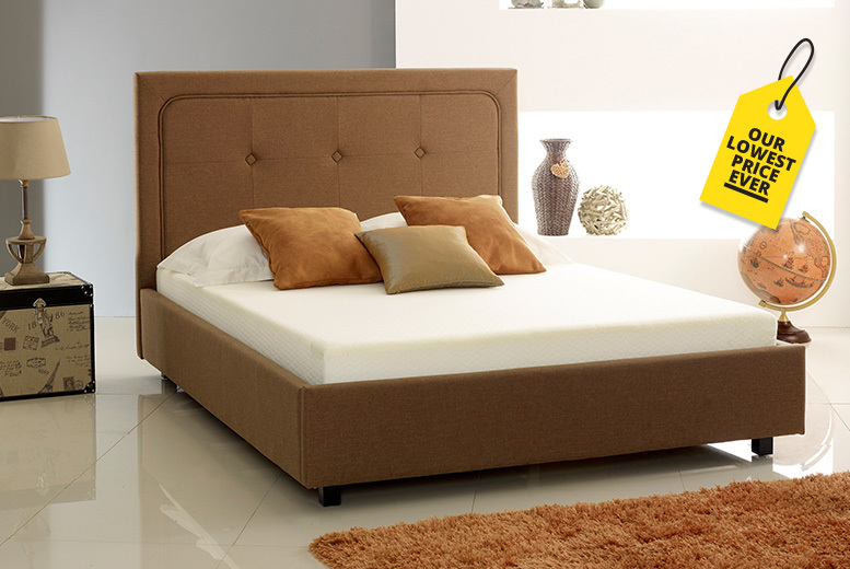 Luxury Fabric Ottoman Storage Bed with Optional Comfort Mattress!