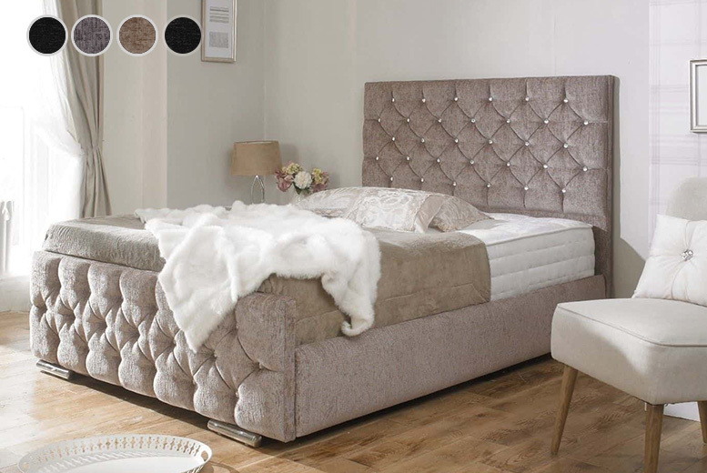 Monaco Designer Fabric Bed Frame - 4 Styles & 5 Sizes!
