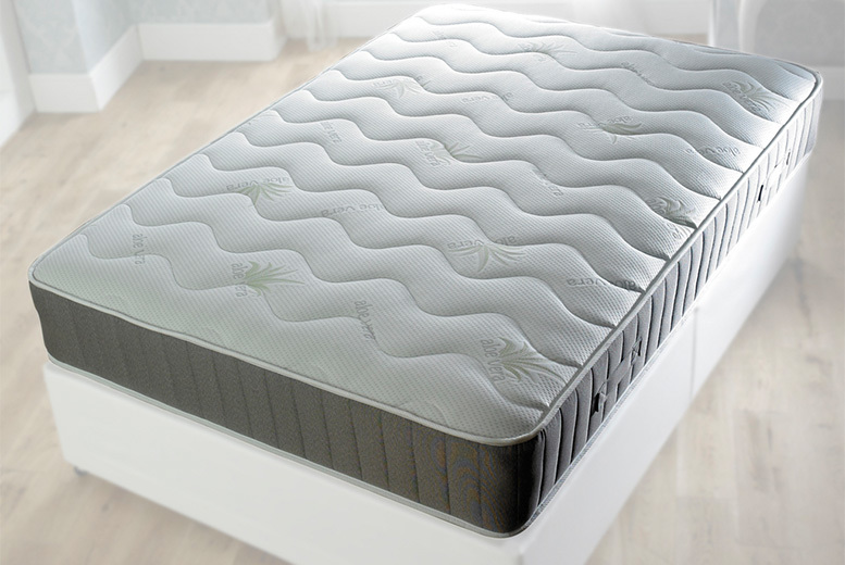 Aloe Vera Quilted Spring Mattress – 5 Sizes! from £74
