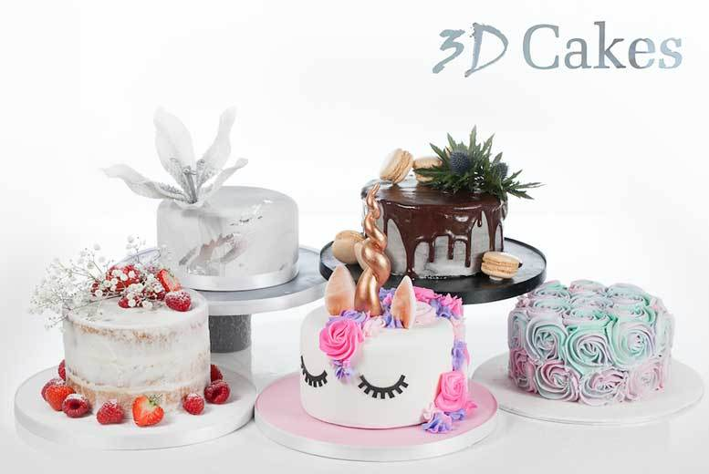 Celebration Cake @ Award-Winning 3D Cakes - Small, Medium or Large!
