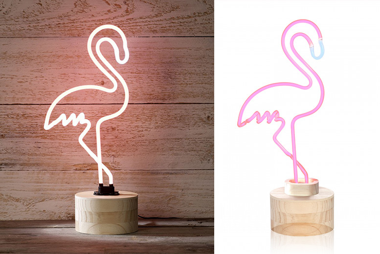 ❤ Island-Inspired Neon Flamingo Lamp