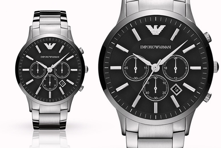 Mens Emporio Armani AR2460 Stainless Steel Watch & Case !
