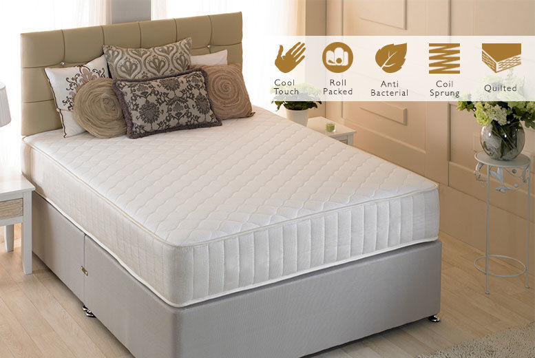 Cool Touch Quilted Spring Mattress - 4 Sizes!