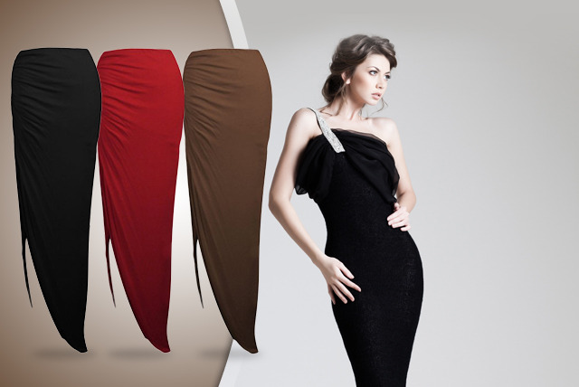 £7.99 instead of £14 (from Karma Clothing) for a ruched, side-split maxi skirt in a choice of colours, £14.99 for 2 – save up to 43%