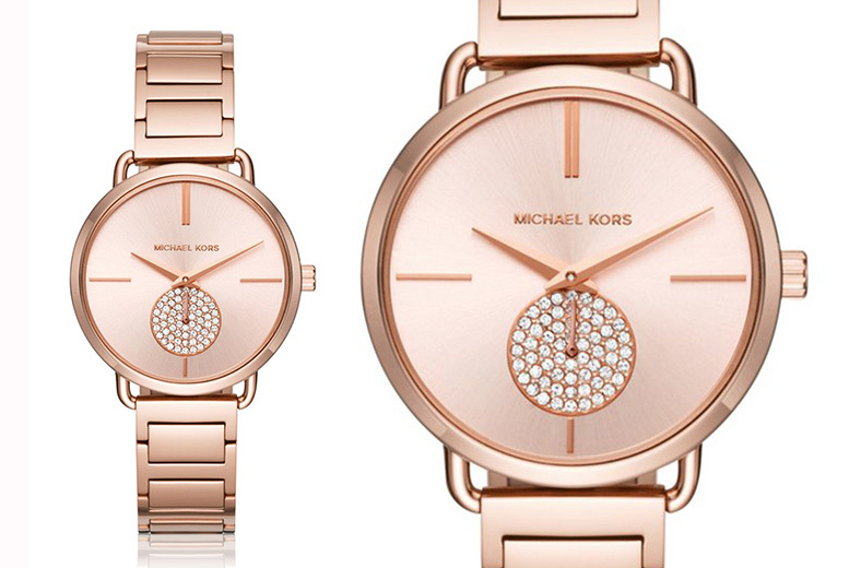 Michael Kors MK3640 Rose Gold-Tone Crystal Watch