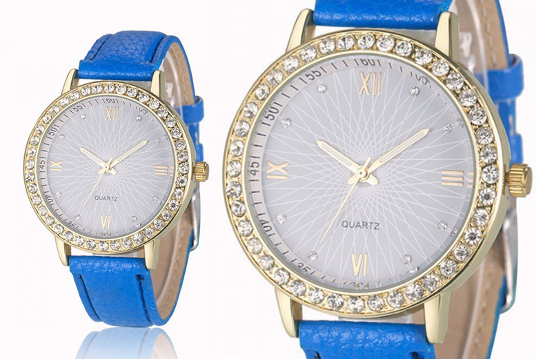 Lacey Crystal Watch - 5 Colours!