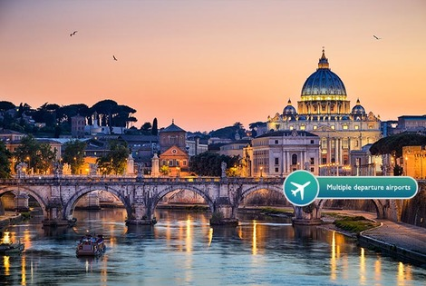 From £69pp (from ClearSky Holidays) for a two-night 4* Rome break including flights, or a three-night break from £119pp - save up to 41%