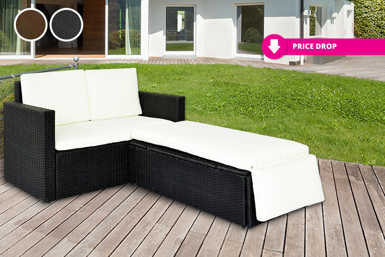 Rattan Garden Love Bed Set - 2 Colours!
