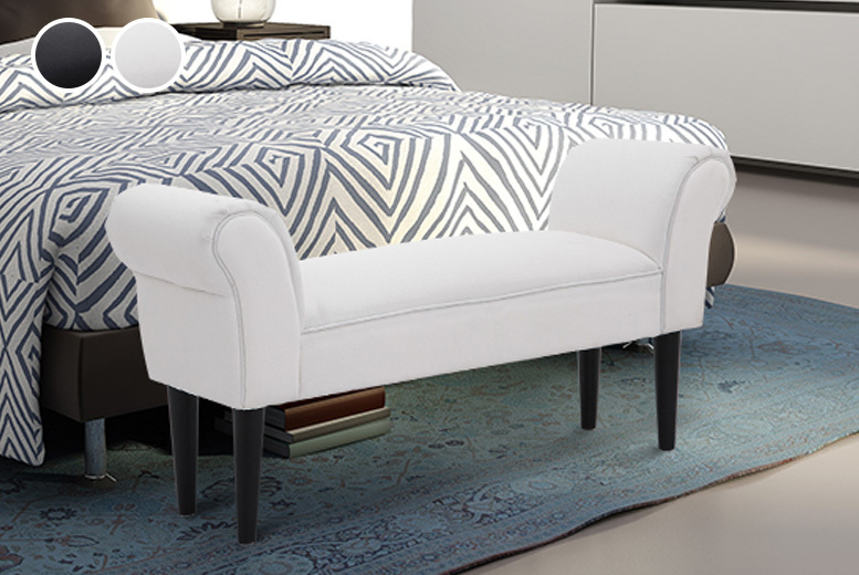 Bed-End Chaise Seating Bench - 2 Colours!
