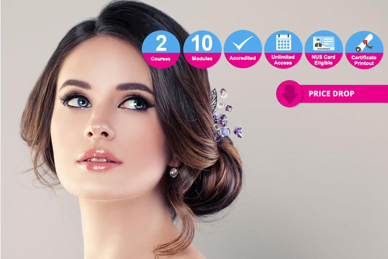 Accredited Bridal Hair & Makeup Bundle - 2 Courses!