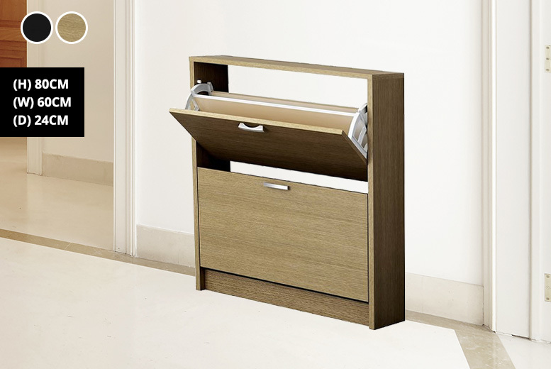 2-Drawer Shoe Storage Cabinet - 2 Colours!