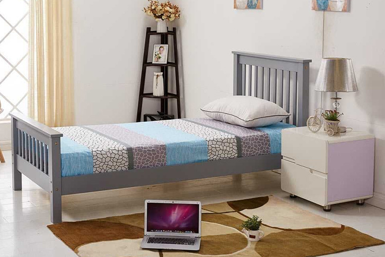 Adlington Wooden Bed - 3 Sizes & 2 Colours!