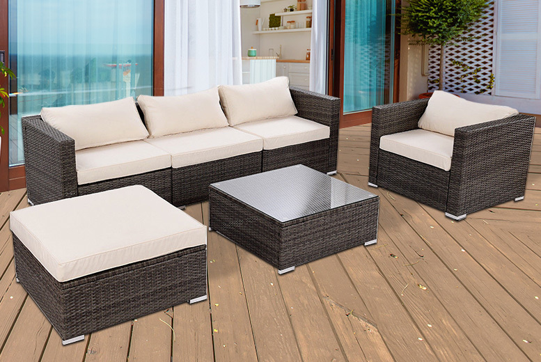 4pc Rattan Garden Furniture Set