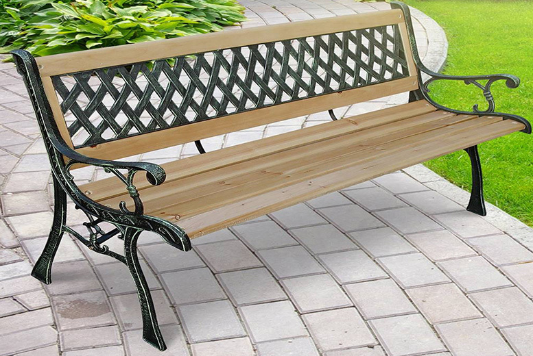 3-Seater Lattice Garden Bench