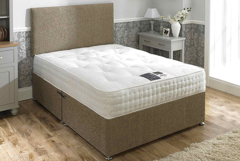 Mink Pocket Sprung Divan Bed - 5 sizes with optional drawers!
