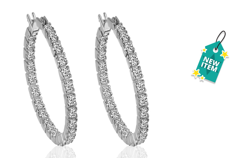 Crystal Inside-Out Hoop Earrings
