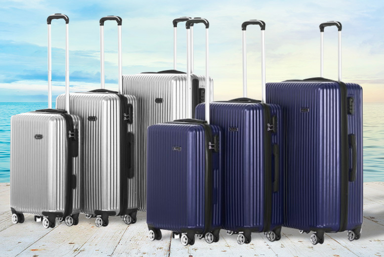 3-Pc Hardshell Luggage Set – 4 Colours! for £79