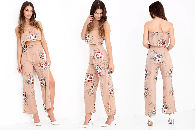Crop Top & Trousers Co-ord Set – UK Sizes 6-14! for £14