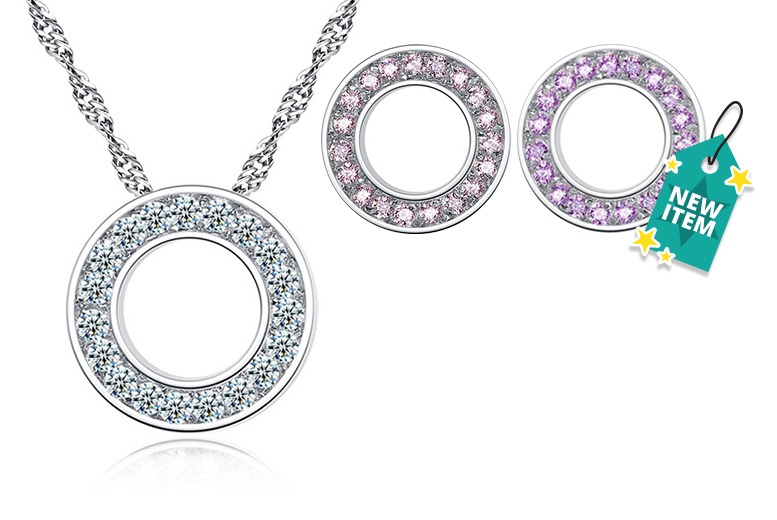 Halo Pendant Made with Crystals From Swarovski® - 3 Colours!