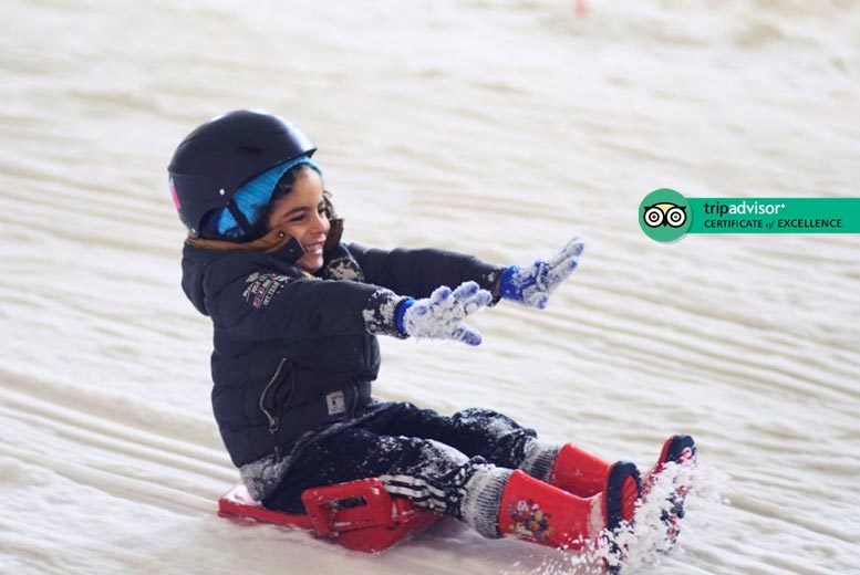 30min Sledging Session for 1 or 4 @ Snow Factor, Glasgow