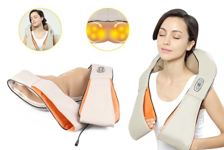 Electric Heating Shiatsu Neck & Shoulder Massager