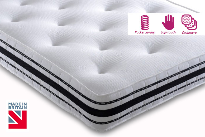 Cashmere 2500 Pocket Spring Mattress - 6 Sizes!