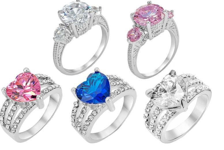 Crystal Stud Ring - 2 Designs & 3 Colours!