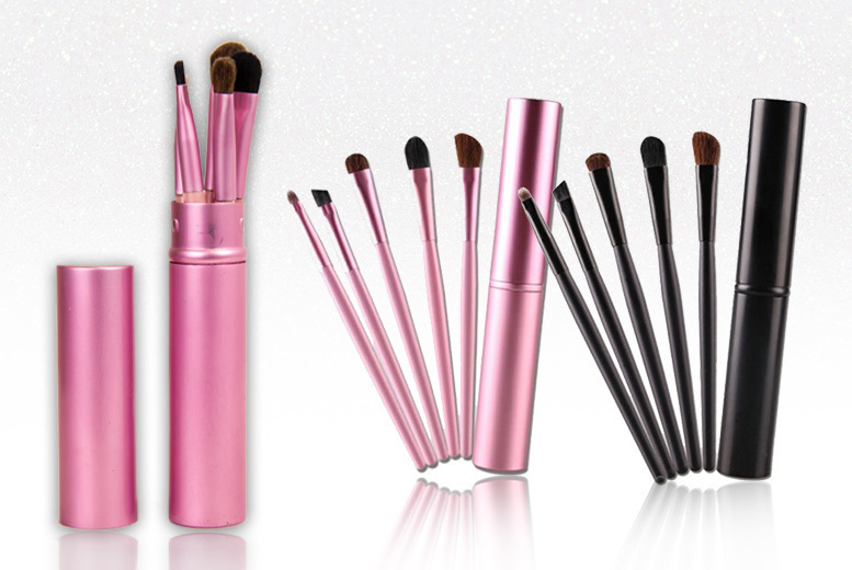 5pc Handbag Makeup Brush Set