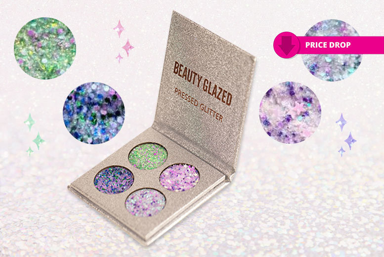 Mermaid Pressed Cosmetic Glitter Compact for £6.99