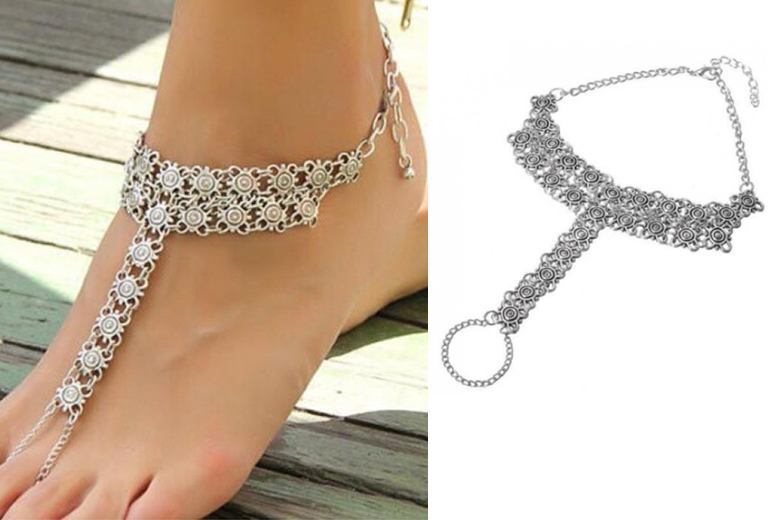 Silver-Plated Summer Anklet