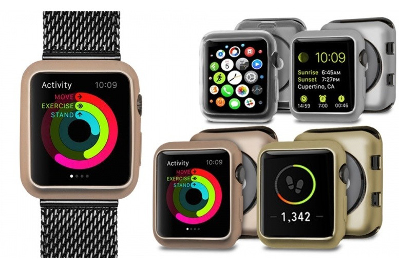 Smart Watch Soft Edge Frame - 2 Sizes & 4 Colours!