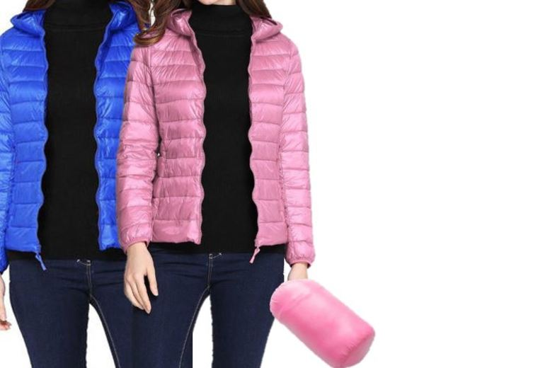 Ultra-Light Packable Puffer Jacket - 4 Colours & UK Sizes 8-14!