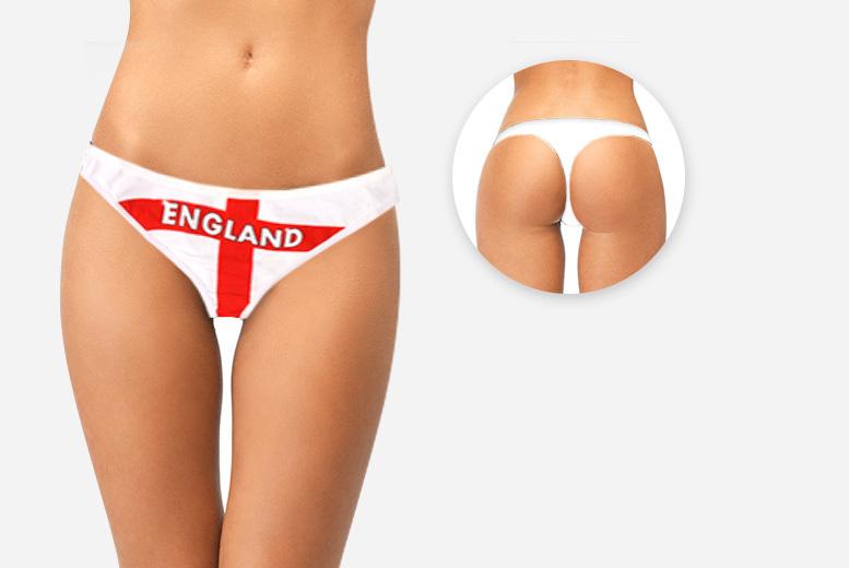 Ladies England Football Thong