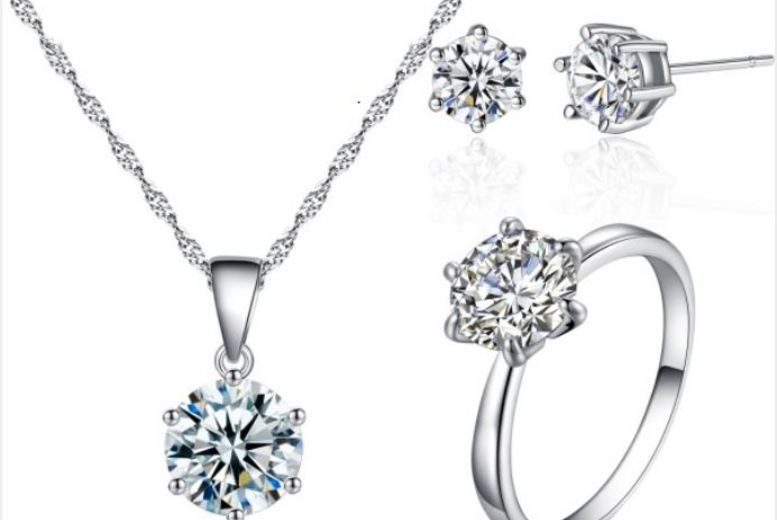 Crystal Solitaire Tri-Set with Crystals from Swarovski®