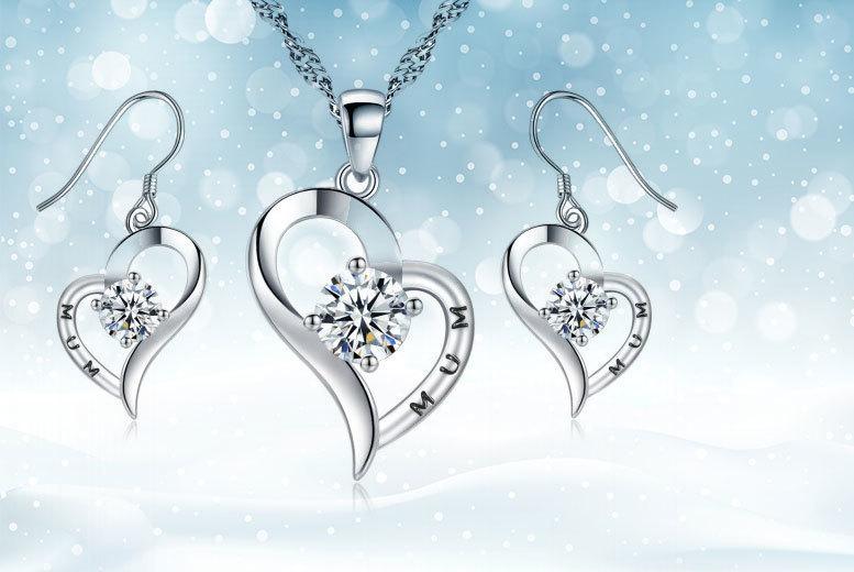 'Mum' Jewellery Set made with Crystals from Swarovski®